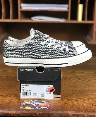 Womens CONVERSE CHUCK TAYLOR ALL STAR Ox Black/White 553325F Size 10 NEW