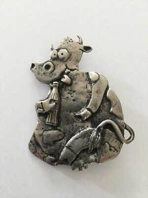Vintage cow with Alberts Coke bottle brooch