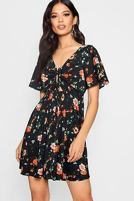 798870dfe077 BOOHOO WOMENS TALL Rhyla Floral Print Tea Dress - $30.00 | PicClick