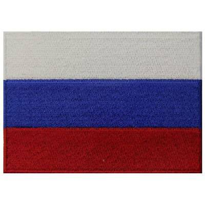 Embroidered Patch Iron Sew On Patches transfers appliques Russian Country Flag