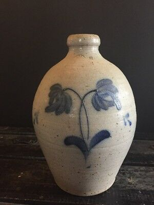"1985 Vintage Rowe Pottery Works 13"" Salt Glazed Large Stoneware Jug"