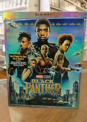 Black Panther Marvel Blu Ray NEW SEALED FAST SHIPPING No Digital Edition
