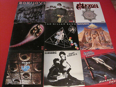 52 Lp Heavy Metal Hardrock Iron Maiden Deep Purple Saxon Scorpions Ufo Bon Jovi