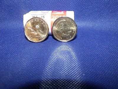1-2018 Canada First Strike Loonie direct from RCM Special Wrap Roll.. Unc