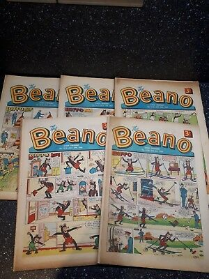 Beano comics 1065×5 good to very good condition including fireworks copy