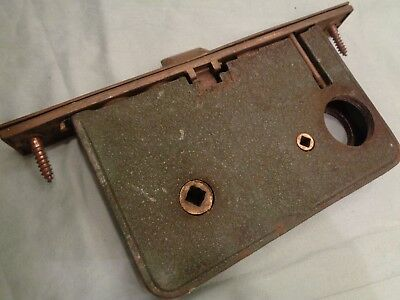 Antique Vintage Cast Iron Brass Door Mortise Lock Part Only