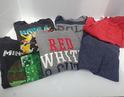 Boys Size 5-6 Short Sleeve T-shirts Summer Clothes LOT