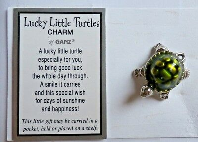 """Lucky Little Turtles 1"""" Charm by Ganz, *NEW*"""