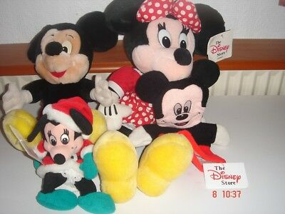 Four Minnie and Mickey Mouse Figures