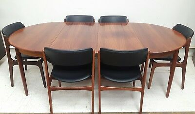 Vintage Retro Danish Mid Century Solid Rosewood Double Extending Dining Table