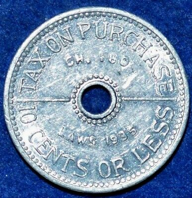 Tax token Laws 1935 10 cents or less Washington state