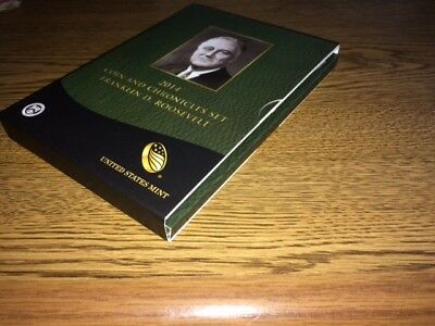 2014 Coin And Chronicle Set Franklin D. Roosevelt All Coins And Stamps Included