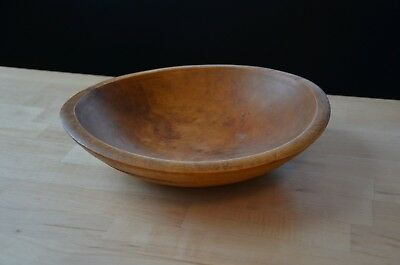 antique Dough bowl bread solid maple rustic american country wood