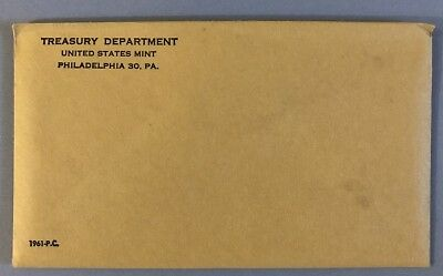 1961 United States Mint 5-Coin Silver Proof Set Sealed In Mint Envelope