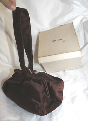 Vintage Antique Style All Women's Brown Gold Interior Small Hand Bag Purse!