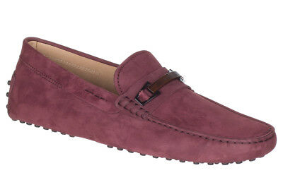 57bd69324b74 Tod s Men s Barolo Red Nubuck Gommino Buckle Driving Moccasin Loafer Shoes