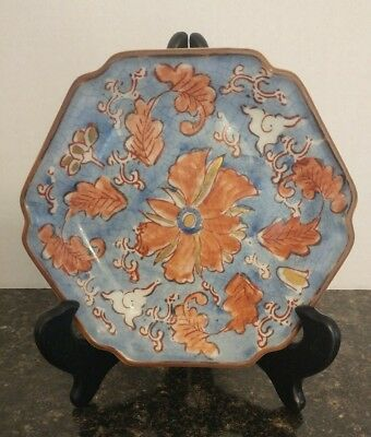 Vintage Japanese Decorative Ceramic Plate Crackley Finsh Diameter 6 inches.