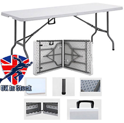 6FT Folding table outdoor Camping Banquet Trestle Party Picnic Heavy Duty New