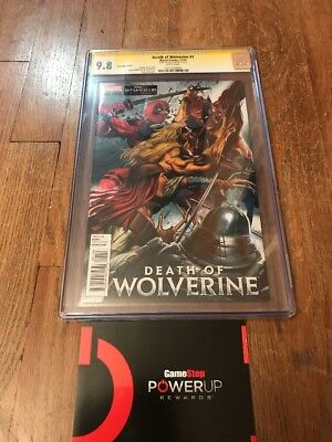 Death Of Wolverine 1 GameStop Variant CGC 9.8 SS Greg Horn