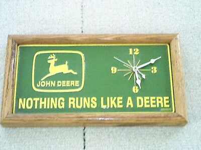 John Deer license plate clock