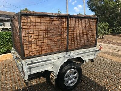 7 x 5 Galvanized box trailer with cage