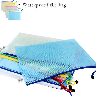 1/3/5pcs A4 Plastic Clear Wallet Zip & Seal File Folder Envelope Waterproof Bag