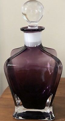 Beautiful Purple/amethyst Crystal Square Shaped Decanter