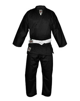 New Black Karate Uniform Martial Arts High Quality Gi 9Oz Easy Fit