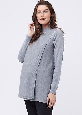 NEW - Ripe Maternity - Rib Neck Knit Maternity Nursing Top