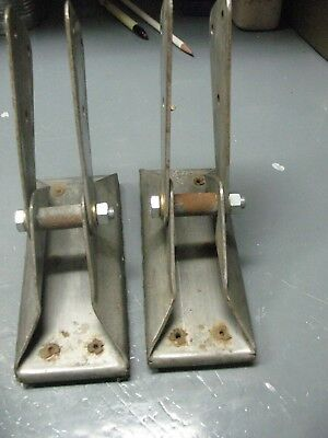 Vintage Original Stainless  Steel  Safety  Swivel Ladder  Feet  Extraordinary