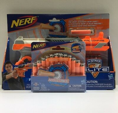 Nerf N-strike Elite Falconfire New In Box With 12 Pack Of Accustrike Nerf Darts