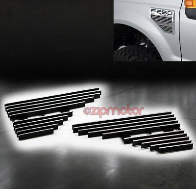 2008-2010 Ford F-250 F-350 F-450 F-550 Super Duty Fender Side Vent Billet Grille