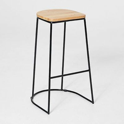 NEW Metal And Wooden Bar Stool