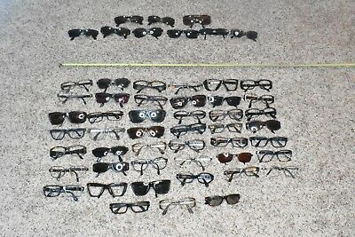 Group / Lot of ( 54 ) Authentic Persol Vintage Sunglasses / Frames