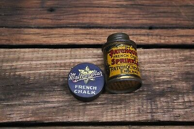 Rare Antique Vintage Cycling Tins French Chalk Malvern Star Patchquick England