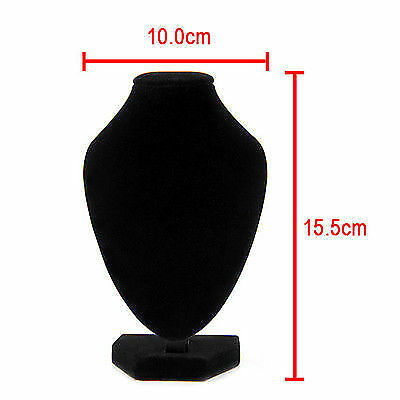 Black Velvet Pendant Necklace Chain Bust Neck Display Holder Stand Showcase Hot