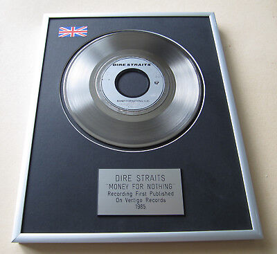DIRE STRAITS Money For Nothing PLATINUM SINGLE DISC PRESENTATION