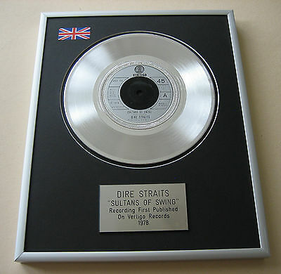 DIRE STRAITS Sultans Of Swing PLATINUM SINGLE DISC PRESENTATION