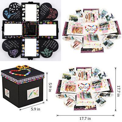 DIY Photo Album Scrapbook Love Memory Gift Surprise Box Birthday Wedding Gift AU
