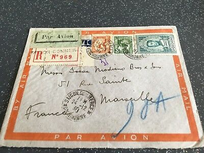 lettre INDOCHINE FRANCE1938