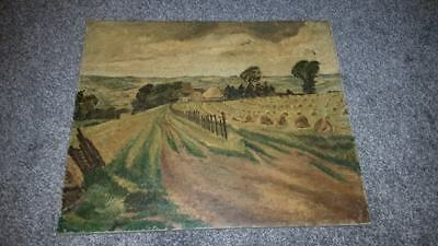 K Tyson Signed Landscape Oil Painting On Canvas Early 20Th Century