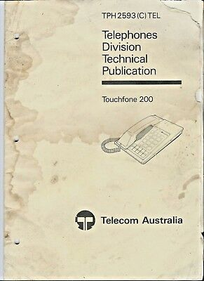 Telecom Australia Touchfone 200, Engineering Instruction THP 2593 (C) TEL