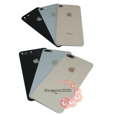 Rear Battery Glass Cover Housing Back Door with Camera Len For iPhone 8 / 8 Plus