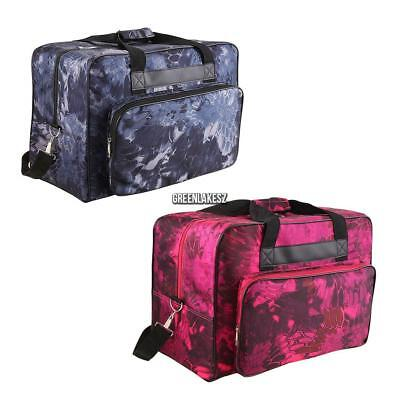 2 Color Universal Floral Sewing Machine Carrying Case - Carry Tote/Bag & Handle