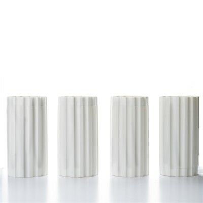 "4 pcs WHITE 9.5"" tall Wedding Empire Roman Columns Extensions Decorations"