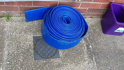 Blue Lay Flat  Discharge Water Hose