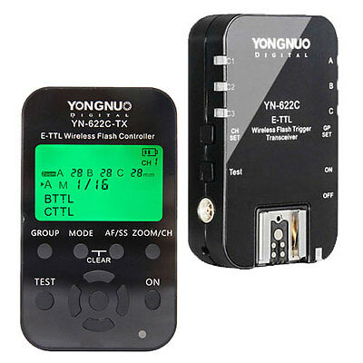 Yongnuo Updated YN-622C HSS + 622-TX TTL Wireless Flash Trigger 1/8000 for Canon