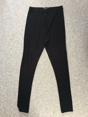 Next Maternity Black Over The Bump Leggings Size 10