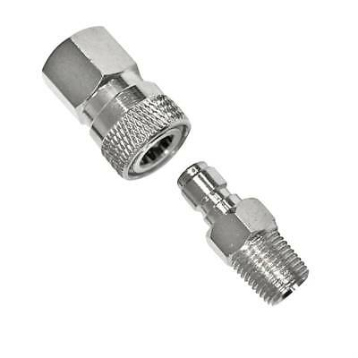 PCP 8mm Paintball Quick Release Disconnect Coupler 1/8NPT Fitting Male & Female
