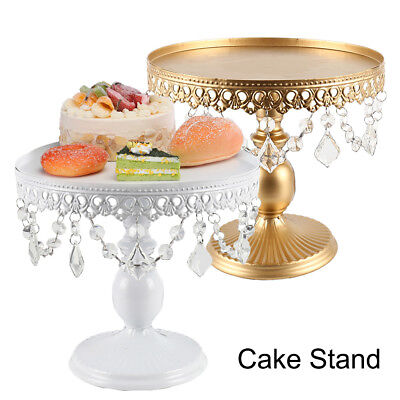 Gold White Round Cake Stand Display Dessert Food Holder Wedding Party Decoration